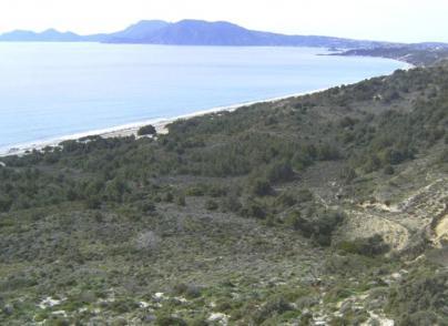 Large beachfront plot in touristic island