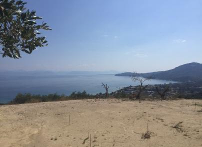 Land plot with panoramic sea and green views