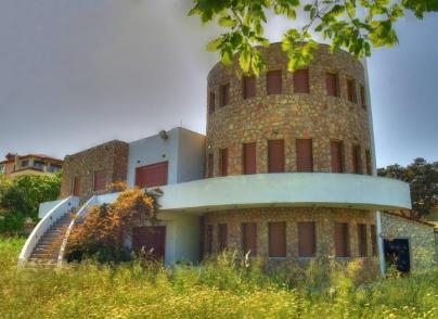 Modernist-style stone villa