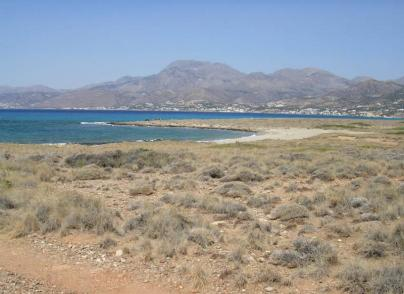Land plot with large sea frontage