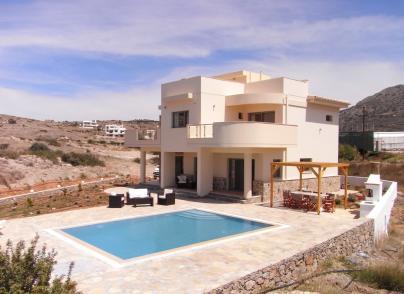 Modern villa with panoramic views