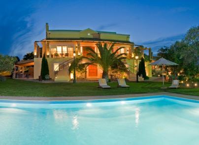 Two luxurious villas in verdant landscape
