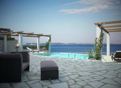 True pearl on the crystal blue waters of Ionian Sea