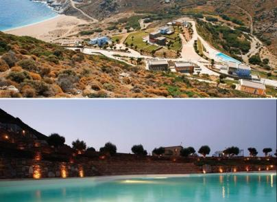 Cycladic village of luxurious villas