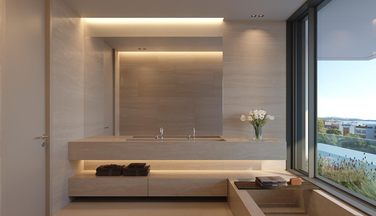 Luxury apartment comprising a private swimming pool