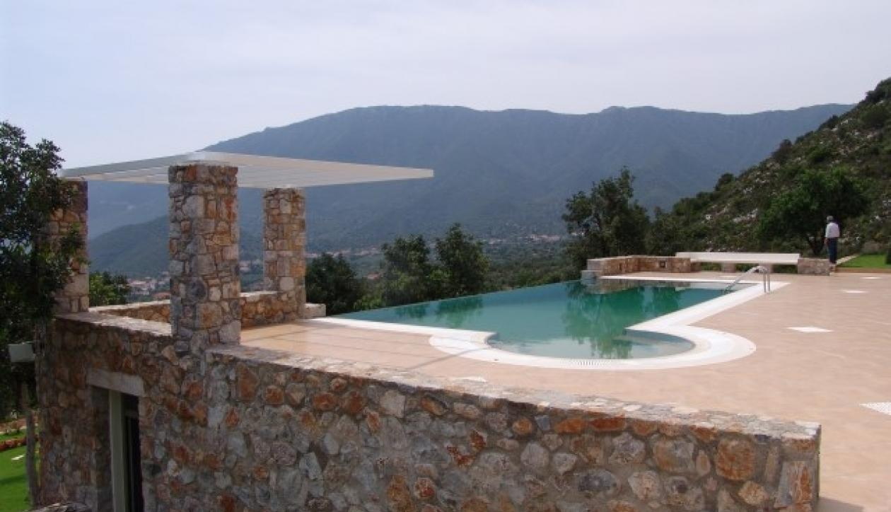 High-end residences with swimming pools