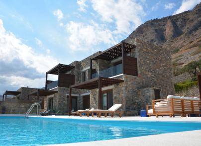 Luxury villa in complex with private beach