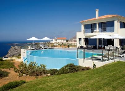 Luxury seafront villas