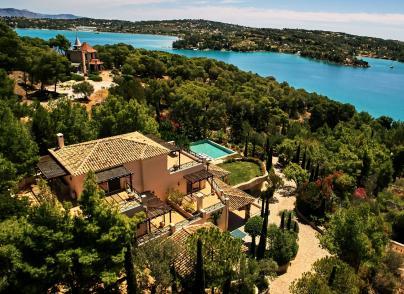 Beachfront villa with private dock