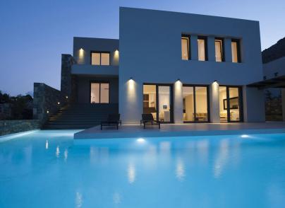 Suburb luxurious villa with panoramic views